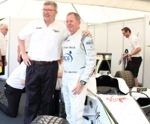 Ross Brawn and Martin Brundle